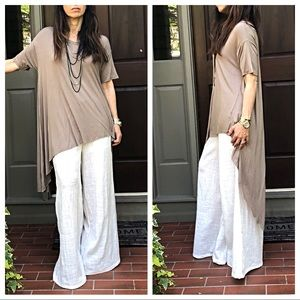 Dresses & Skirts - High low asymmetrical mocha top